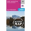 Ordnance Survey Active Landranger Map 34 Fort Augustus V16