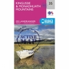 Ordnance Survey Active Landranger Map 35 Kingussie and Monadhliath Mountains V16