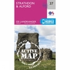 Ordnance Survey Active Landranger Map 37 Strathdon and Alford V16