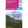 Ordnance Survey Active Landranger Map 39 Rum,  Eigg,  Muck and Canna V16