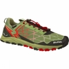 Salewa Mens Multi Track GTX Shoe Oil Green / Fluorescent Coral