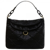 Lulu Guinness Black Leather Quilted Lips Large Molly Women's Bag