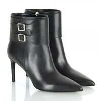 Boots  - Saint Laurent Black Leather Heeled Ankle Boots