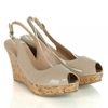 Vanilla Moon Beige Caja Women's Wedge Sling Back Sandal