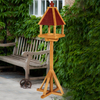 York Wooden Bird Table Treated With Painted In Grey