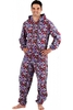 Classic Mens Red Terrier Dog Hooded All In One Onesie Pyjama