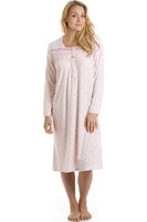 Nightshirts & Nightgowns  - Classic Pink Floral Long Sleeve Nightdress