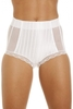 Lingerie & Sexy Clothing|Underwear|Briefs Womens White High Waisted Mesh Support Panel Control Briefs