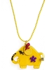 Women's Yellow Elephant Design Necklace