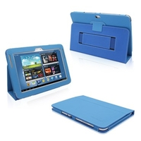 Computer Hardware  - Snugg Galaxy Note 10 1 Case Cover and Flip Stand in Electric Blue Leather