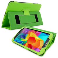 Accessories  - Snugg Galaxy Tab 4 8.0 Case Cover and Flip Stand in Green Leather