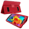 Snugg Galaxy Tab 4 8.0 Case Cover and Flip Stand in Red Leather