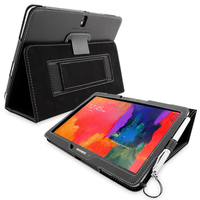 Accessories  - Snugg Galaxy TabPRO 10.1 Case Cover and Flip Stand in Black Leather