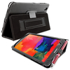 Snugg Galaxy TabPRO 8.4 Case Cover and Flip Stand in Black Leather