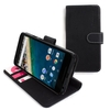 Snugg Google Nexus 5X Leather Case Cover and Flip Stand in Black