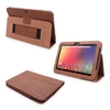 Snugg Nexus 10 Case Cover and Flip Stand in Distressed Brown Leather