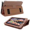 Snugg Nexus 7 Case Cover and Flip Stand in Distressed Brown Leather