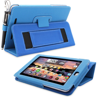 Mass Storage Devices  - Snugg Nexus 7 Case Cover and Flip Stand in Electric Blue Leather