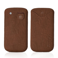 Mass Storage Devices  - Snugg Samsung Galaxy S3 mini Distressed Brown PU Leather Case Pouch