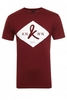 Badge Logo Crew Neck Tshirt Maroon