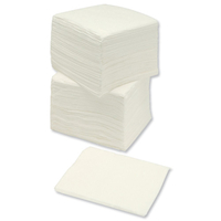 Household & Kitchen  - Napkins Economy Single Ply 300x300mm White [Pack 500]