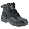 Sterling Work Site Safety Boots Steel-toe Shock-absorbent Leather Size 12 Black Ref SS604SM12