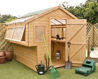 Home & Garden  - 8 x 8 Double Sided T&G Potting Shed