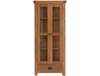 Display Cabinets Oakleaf Rustic Display Cabinet with Glass Doors