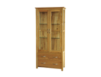 Display Cabinets  - Solid Oak Glass Display Unit