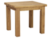 Chairs Thick Chunky Solid Plank Oak 3ft Square Dining Table
