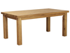 Tables Thick Chunky Solid Plank Oak 6ft 6  Dining Table
