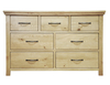 Chests of drawers Weardale Oiled Oak 3 Over 4 Drawer Chest