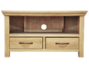 Cabinets|TV Furniture Weardale Oiled Oak Corner TV Unit
