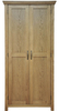 Wardrobes Weardale Oiled Oak Full Hanging Wardrobe