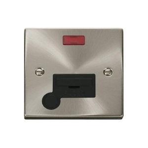 Plugs & Sockets|Switches & Dimmers  - Click Deco Victorian VP053 13A Fused Connection Unit with Flex Outlet & Neon