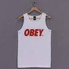 Clothing Obey Font Vest White Red