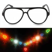 Spectacles & Contact Lenses|Camping & Trekking|Outdoor Clothing  - Aviator Glasses - Heart Firework Lens
