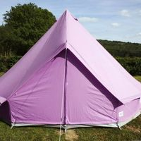 Tents  - Pastel Lilac Bell Tent With Zipped in Ground Sheet