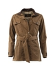 Women's Long Waxed Cotton Belted Jacket