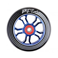 Wheels & Tyres & Tubes  - Ultra Light Black PU Blue Core Scooter Wheel 100mm