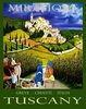 TUSCANY WINE POSTER by William Cain