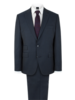 Navy Twill Slim Fit Suit Jacket