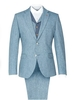 Jackets The Bayswater Blue Tweed Mens Towergate Suit Jacket Pale Blue