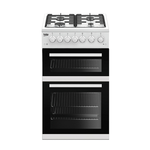 Beko EDVG505W 50cm Freestanding Double Oven Gas Cooker in White