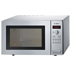 Bosch HMT84M451B 800w Compact Microwave Oven in Brushed Steel