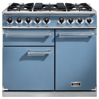 Cookers  - FALCON F1000DXDFCANM 98620 100cm Deluxe Range Cooker, China Blue Finish