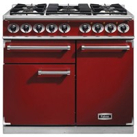 Cookers  - FALCON F1000DXDFRDNG 98500 - 100cm Deluxe Range Cooker, Red Finish