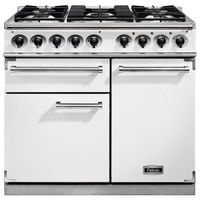 Cookers  - FALCON F1000DXDFWHNM 98650 - 100cm Deluxe Range Cooker, White Finish