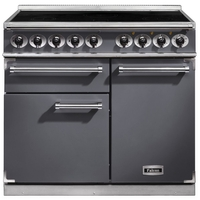 FALCON F1000DXEISL/N 1000 DELUXE Induction Range Cooker,  Slate. Nickel Trim