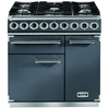 FALCON F900DXDFSL/NM 900 Deluxe Dual Fuel Range Cooker,  Slate/ Nickel Trim